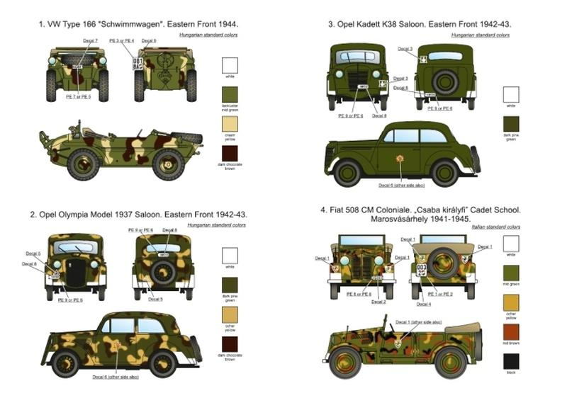 Hungarian Military Passenger Cars Wwii 1 35 Scale Sbs