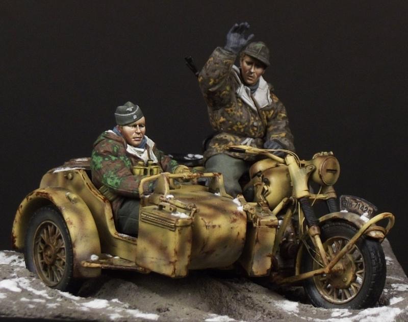 german motorcycle crew 1 35 scale tb 35086 hunikum miniatures online shop models resin. Black Bedroom Furniture Sets. Home Design Ideas