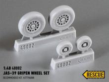 JAS-39 Gripen wheel set for Kittyhawk kit